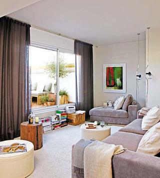 时尚大气现代布艺沙发图片