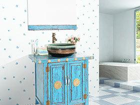 个性田园风 12张特色浴室柜设计图