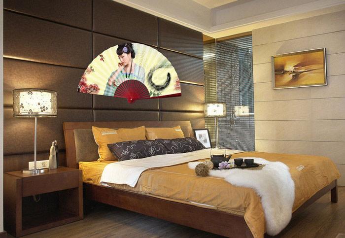 中式沉稳色调卧室效果图