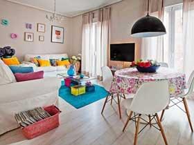简约混搭风小公寓设计 小清新多彩软装