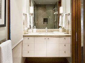 12张白色浴室柜效果图 简单干净