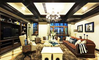 奢华美式客厅吊灯效果图