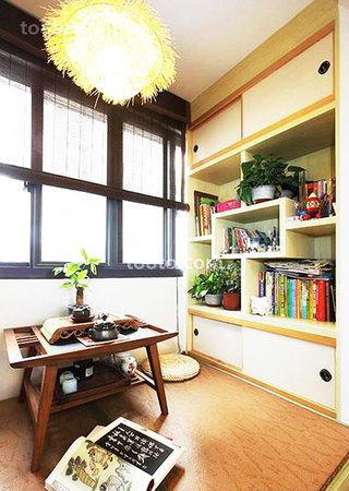 阳台小户型书房效果图