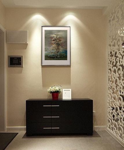 时尚黑色玄关柜效果图高清图片