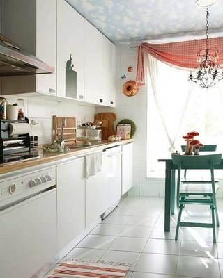 白色小清新田园厨房设计效果图