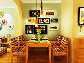 吊灯点亮小餐厅 15图温馨感巧布置