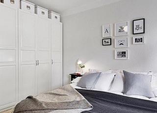白色清新卧室效果图