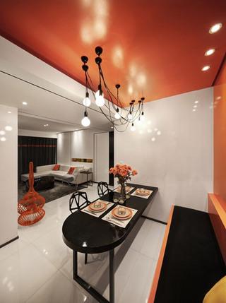 橙色餐厅吊顶效果图