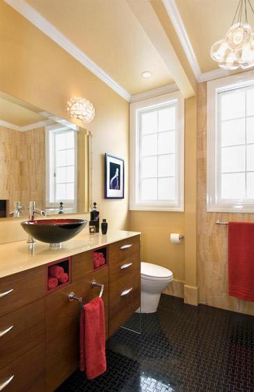 暖色调美式卫生间效果图