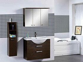 13张黑色地中海浴室柜设计图 稳重大气