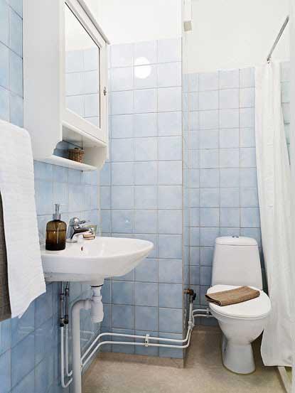 蓝色清新舒适卫生间设计效果图图片