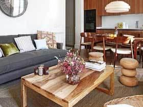 自然原木美式两居室 尽情体验原木清新