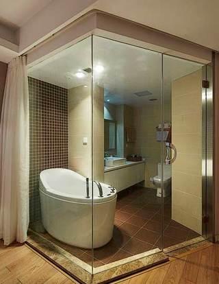 玻璃隔断主卧卫生间设计图片