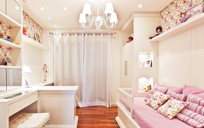 舒适女生卧室设计效果图