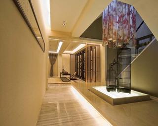 简洁中式走廊吊顶效果图