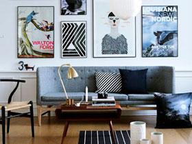 客厅沙发背景墙装饰画布置效果图欣赏图片