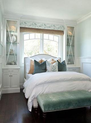 清新白色绿色卧室效果图