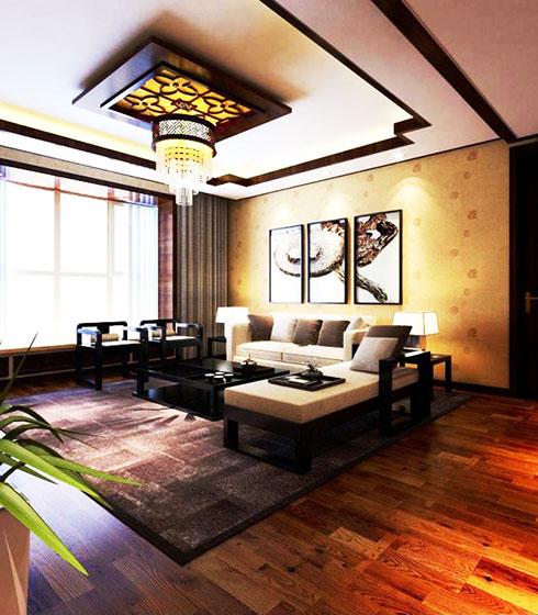 实用客厅红木沙发效果图