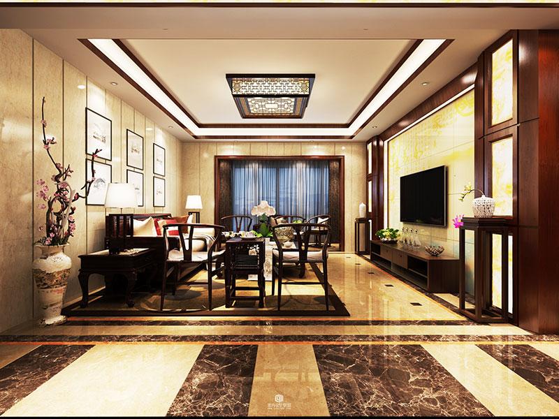 奢华客厅红木沙发效果图