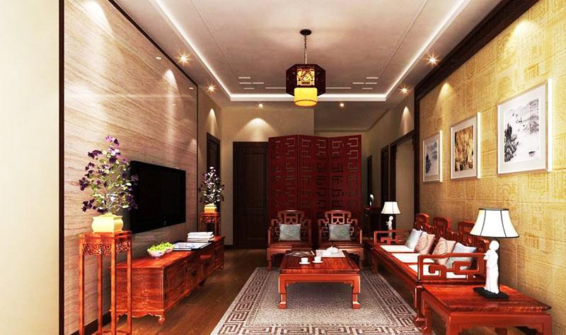 客厅组合红木沙发效果图