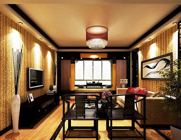 客厅单人红木沙发效果图