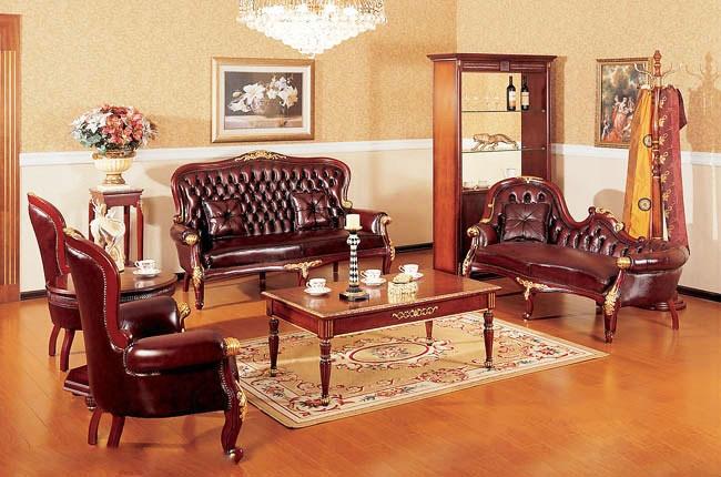 美式客厅红木沙发效果图