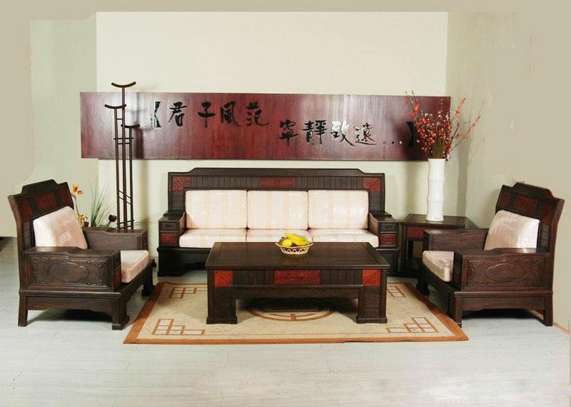 典雅客厅红木沙发效果图