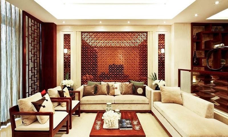 新中式客厅红木沙发效果图