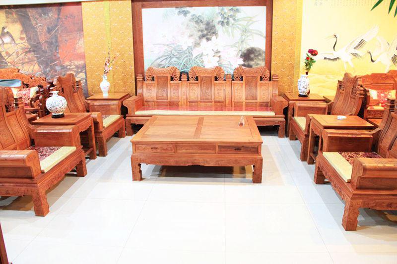 中式客厅红木沙发效果图