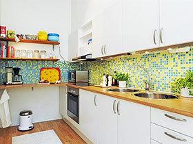 13张厨房瓷砖效果图 清新靓丽