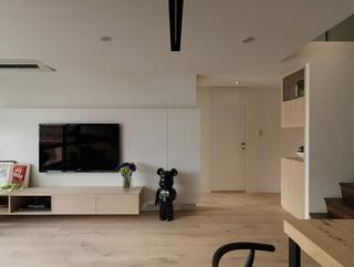 简约白色电视背景墙设计