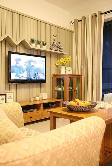 美式温馨电视背景墙效果图