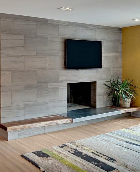 石膏板电视背景墙效果图