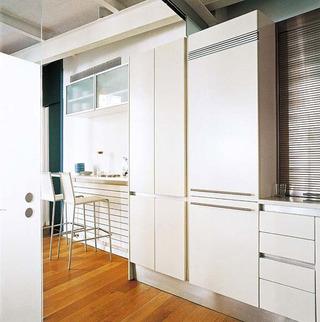现代简约风格二居室暖色调5-10万90平米装修效果图