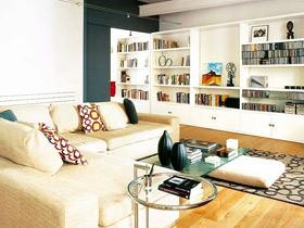 10萬裝90平現代暖色調二居室效果圖