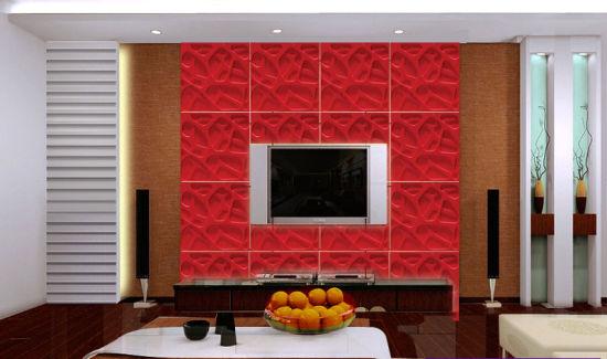 红色魔块电视背景墙效果图