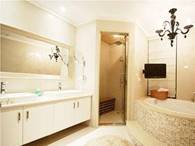 14張白色浴室柜效果圖 唯美簡歐風
