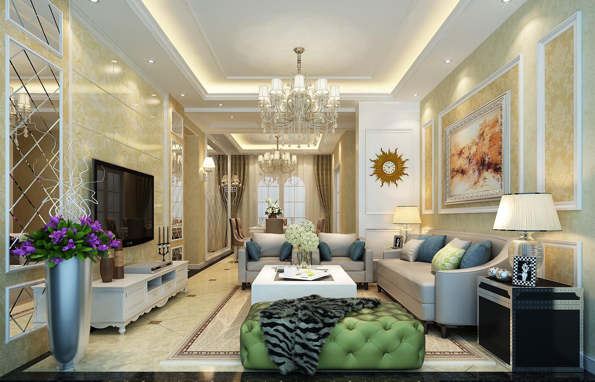 欧式风格装修效果图,室内设计效果图-齐家装修网