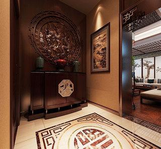 新中式进门玄关设计
