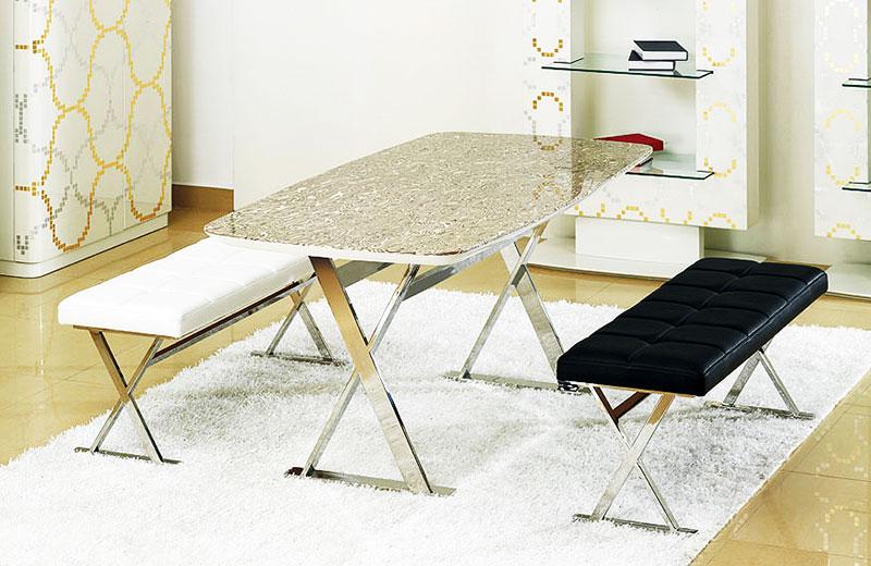 灰色大理石餐桌图片