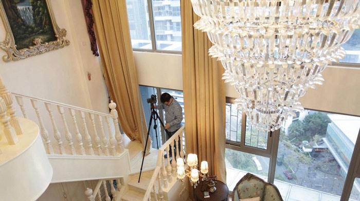 欧式华丽别墅楼梯图片