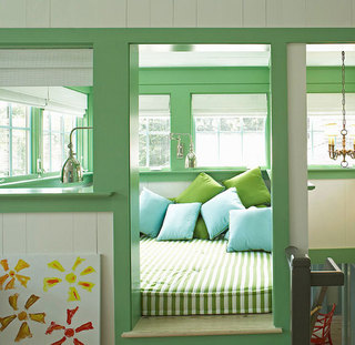 绿色阳台地台设计