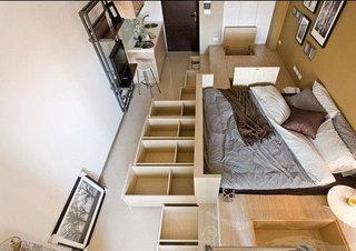 柜式榻榻米床设计图