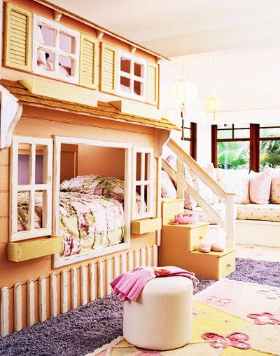 双层儿童床效果图