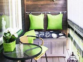 小阳台装修效果图 小空间造舒适感