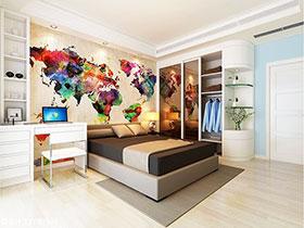 臥室手繪效果圖 不一樣的溫馨空間