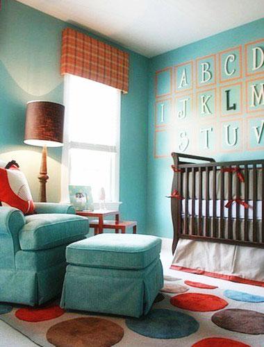 绿色儿童房手绘墙