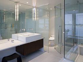 17张卫生间玻璃隔断效果图 实用大气