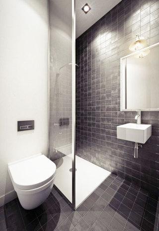 黑色卫生间瓷砖效果图