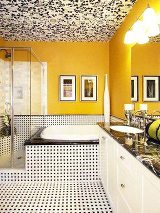 黑白卫生间地砖效果图